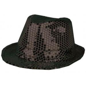 Chapeau funk paillettes noir