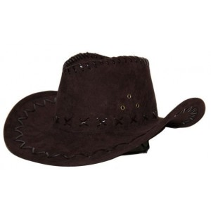 Chapeau cowboy simili cuir marron