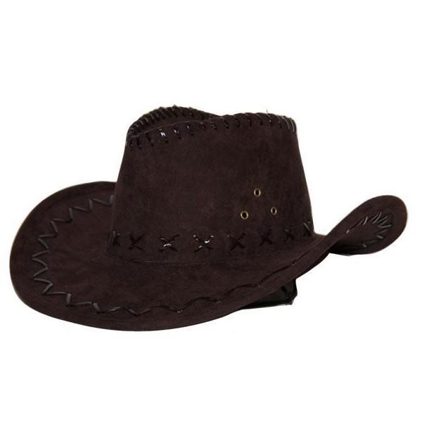 accessoire d guisement chapeau cowboy simili cuir marron. Black Bedroom Furniture Sets. Home Design Ideas