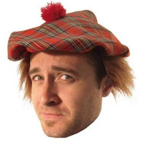 Béret + cheveux écossais