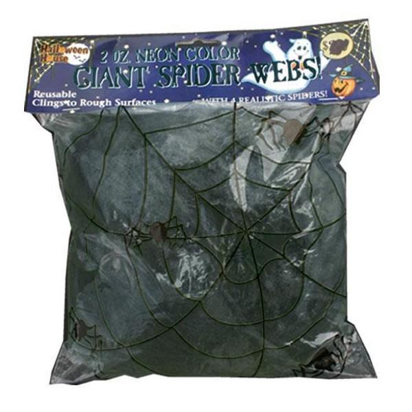 D coration halloween toile d 39 araign e noire 50g 2 for Toile d araignee decoration