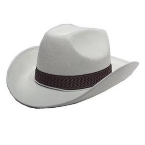 Cowboy feutre blanc
