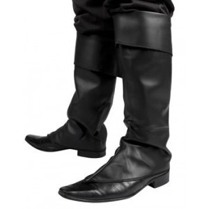 Surbottes simili cuir noir