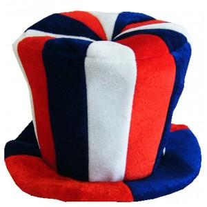 Chapeau velours Haut de Forme tricolore