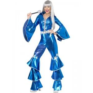 Déguisement Abba femme bleu