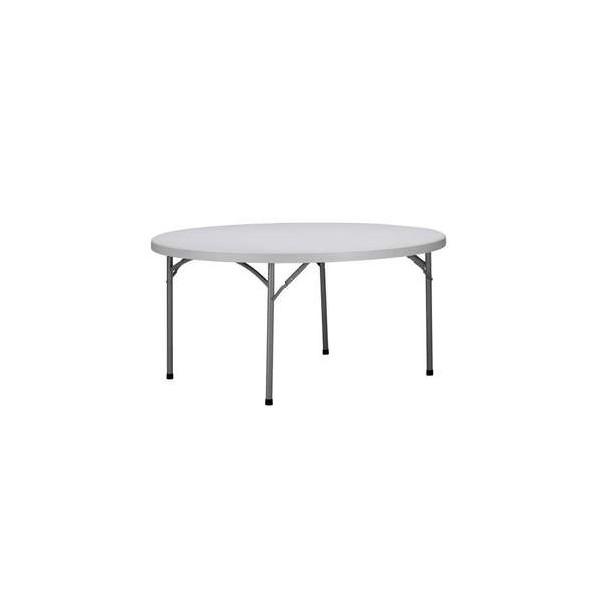 location mobilier de r ception table pliante ronde. Black Bedroom Furniture Sets. Home Design Ideas