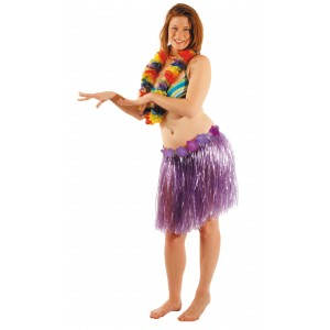 Jupe hawai violette 45 cm