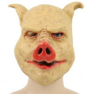 Masque latex cochon