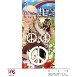 Collier et boucles d'oreilles hippie