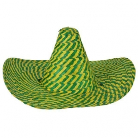 Sombrero jaune/vert