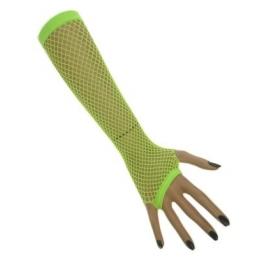 Mitaines longues résille néon - vert