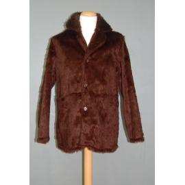 Manteau peluche brun