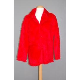 Manteau peluche rouge