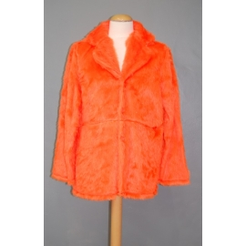 Manteau peluche orange