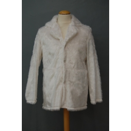 Manteau peluche blanc