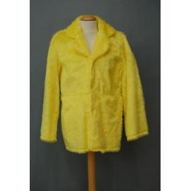 Manteau peluche jaune