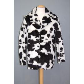 Manteau peluche vache