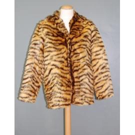 Manteau peluche tigre beige