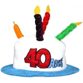 Chapeau anniversaire 40 ans