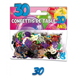 Confettis de table 30 ans