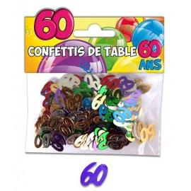 Confettis de table 60 ans