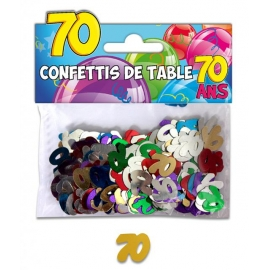 Confettis de table 70 ans