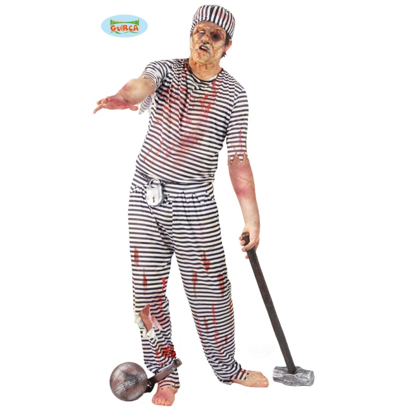 D guisement halloween adulte prisonnier zombie - Deguisement halloween adulte ...