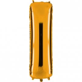 Ballon lettre métal or 102cm - I