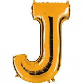 Ballon lettre métal or 102cm - J