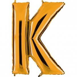 Ballon lettre métal or 102cm - K