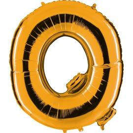 Ballon lettre métal or 102cm - Q