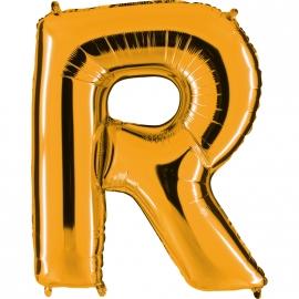 Ballon lettre métal or 102cm - R