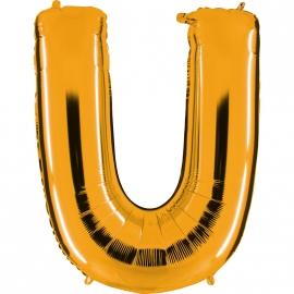 Ballon lettre métal or 102cm - U