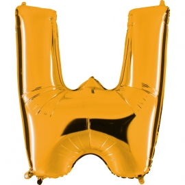 Ballon lettre métal or 102cm - W