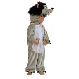 Costume Peluche Loup Enfant