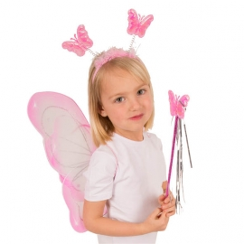 sPapillon Rose Enfant