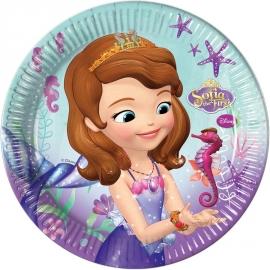 8 Assiettes Princesse Sofia 23cm