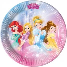 8 Assiettes Princesses Disney 23cm