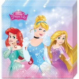 20 Serviettes Princesses Disney 33x33cm