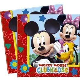 20 Serviettes Mickey 33x33cm