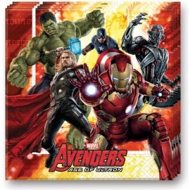 20 Serviettes Avengers 33x33cm