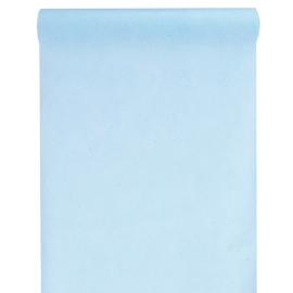 Chemin de table intissé bleu ciel
