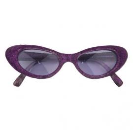 Lunettes Disco paillettes - Violet