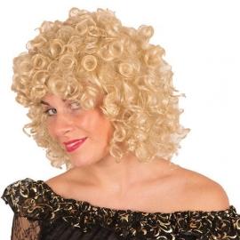 Perruque frisée blonde