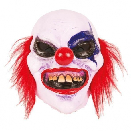 Masque clown bleu