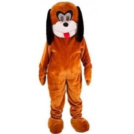 Mascotte chien brun