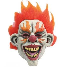 Masque latex clown flamme