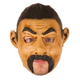 Masque latex homme moustachu