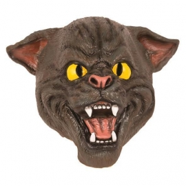 Masque latex chat gris