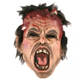 Masque latex vis à travers tête